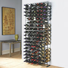 Wine Enthusiast 144 Bottle Black Tie Grid 6311201 Wine Rack NEW