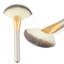 Women Makeup Brush Large Fan Goat Hair Blush Powder Foundation Cosmetic Brush B