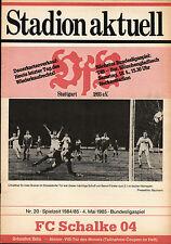 BL 84/85 VfB Stuttgart - FC Schalke 04, 04.05.1985