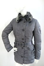 Peuterey Sher Brook YD Grey Goose Down Jacket Rabbit Fur Collar size 46