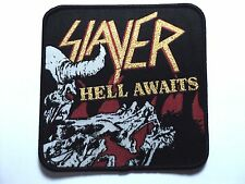 SLAYER HELL  AWAITS  WOVEN PATCH