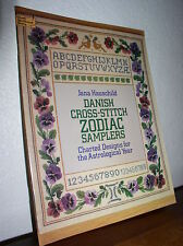 Dover Needlework: Danish Cross-Stitch Zodiac Samplers - Jana Hauschild (1980, PB