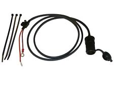 "12V Motorcycle Accessory Power Socket 1.5m (60"") Cable - Blade Fused - Easy Fit"
