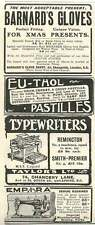 1905 Imperial Manufacturing Shipley Sewing Machines Barnard's Gloves Cheapside