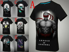League of Legends LOL Cotton T –Shirt Lee Sin Zed Twisted Ezreal Thresh X1PC