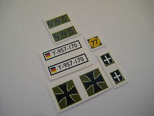 Dinky 696 Leopard Tank Sticker Decals Military Vehicles,1:50 scale