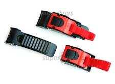 Heavy Duty Fast Release Buckle Clip Cord Chin Strap Bag Motorcycle Bike Helmet 3