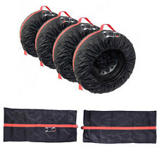 "4PCS Car Spare Tyre Cover Case Summer Winter Protector Tire Storage Bag 13""-16"""