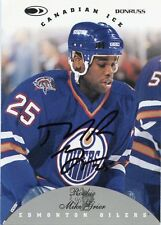 MIKE GRIER OILERS AUTOGRAPH AUTO 96-97 DONRUSS CANADIAN ICE ROOKIE #141 *31203