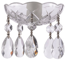 Asfour Crystal 30% Lead Crystal Bobeche Lamp Chandelier Parts With Silver Bowtie