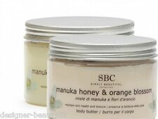 SBC Manuka Honey & Orange Blossom Body Scrub 450ml & Body Butter Duo