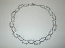 """New Smithsonian Simulated Diamond 18"""" Floral Necklace Sold Out Limited Edition"""