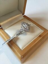 Stunning Created Diamond Art Deco Marquise Trillion Ring 3.30 Carats! Size T