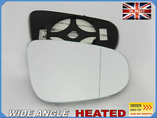 Vw Golf VI 2009-2016 Wing Mirror Glass Aspheric HEATED Right Side #1043