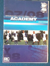 Birmingham City v Preston North End 16/1/08 FA Youth Cup 4th Round Programme