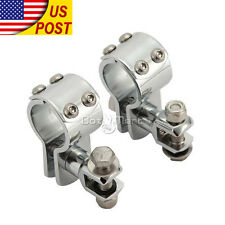 "1-1/4"" Highway Engine Guard Foot Peg Clamps For H-D Road Glide Custom FLTRX"