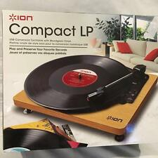 Ion Compact LP USB Conversion Turntable Woodgrain Record Player PC Mac Unused