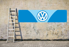 VW BLUE CAMPER workshop, garage, office or showroom pvc banner
