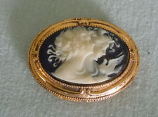 Vintage Corday Cameo of Two Ladies and Dove  Solid Perfume Inside