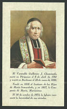 Estampa antigua del Venerable Guillermo andachtsbild santino holy card santini
