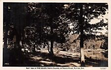 RUTTER ONTARIO~PINE BEACH~NORTH CHANNEL~ FRENCH RIVER~REAL PHOTO POSTCARD 1956