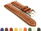 Mens Genuine Leather Watch Strap Band VIP Alligator Grain SS. Buckle Spring Bars