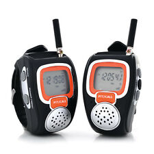 Portable Digital Wrist Watch Walkie Talkie for Him and Her 3 Miles