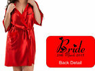 NEW Personalised RED Bridal Satin Robe / Gown Wedding Bride Mother / Gift Bag