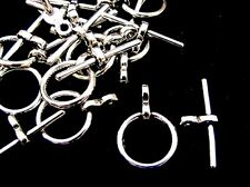 10 x Tibetan Silver Round Toggle Clasps 16mm x 12mm Jewellery Findings W22