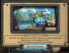 Hearthstone Morgl the Oracle Shaman Portrait Recruit A Friend RAF Blizzard