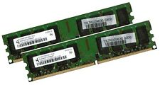 2x 2GB 4GB RAM PC Speicher DDR2 667 Mhz PC2-5300U f. Intel +AMD Low Density DIMM