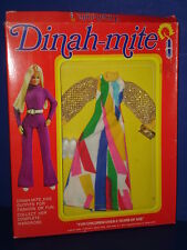 DINAH-MITE Fashion Action Doll MOD Era Gown Outfit in Package MEGO 1970s