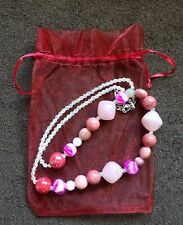 Peppermint Boutique Pink Bead Necklace*BRAND NEW