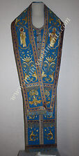 Orthodox Bishop Omophor + Stole Cuffs Embroidered Blue Protection Omophor Pokrov