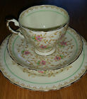 TUSCAN CHINA - TRIO CUP SAUCER PLATE PLANT PATTERN MADE IN ENGLAND
