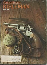 American Rifleman Magazine March 1978 awesome gun ads .42 cal 9 shot revolver