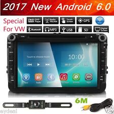 """For VW Jetta Passat Golf 8"""" HD Touch Car Stereo GPS DVD Player Radio Android 6.0"""