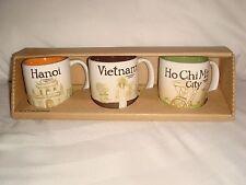 Starbucks Coffee Vietnam Set of THREE Demitasse Ho Chi Minh City/Vietnam /Hanoi