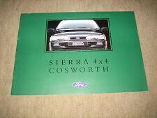 Ford Sierra Cosworth 4x4 Prospekt Brochure von 7/1991, 16 Seiten