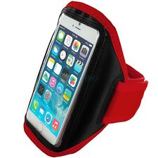 "iPhone 6 (4.7"") Red Padded Arm Band Mobile Phone Holder for Running, Jogging"