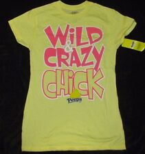 JUNIORS NOVELTY T-SHIRT COKE SMALL 3/5 PEEPS WILD AND CRAZY CHICK CANDY YELLOW!!