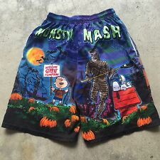 VTG CHARLIE BROWN GREAT PUMPKIN All Over Print S Movie Shorts Lacrosse HALLOWEEN