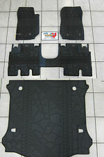 2014-2017 Jeep Wrangler JK Unlimited Rubber Slush Floor Mat Cargo Tray Set Mopar