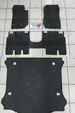 2014-2016 Jeep Wrangler JK Unlimited Rubber Slush Floor Mat Cargo Tray Set Mopar