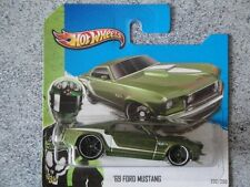 Hot Wheels 2013 #232/250 1969 FORD MUSTANG green HW Showroom