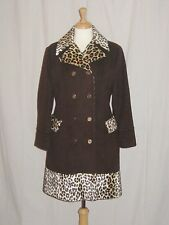 VTG 60s COAT MOD MINI CHEETAH LEOPARD BROWN WOOL & MOHAIR APAGORA MEDIUM