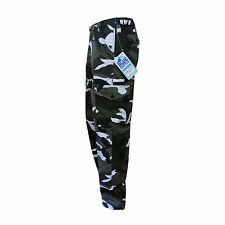 MENS TUFF DUTY ARMY MILITARY COMBAT WORK TROUSERS CAMO CAMOUFLAGE CARGO PANTS