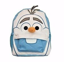 """Disney's Frozen Olaf Backpack Small Cute 12"""" Blue Backpack Snowman A04065"""