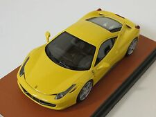 1/43 MR Collection Ferrari 458 Italia Tristato Yellow Dealer Edition Leather