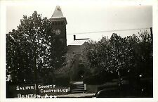 Vintage RPPC Real Photo Postcard Saline County Courthouse Benton Arkansas AR